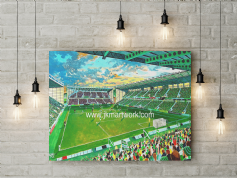 new easter road on matchday  canvas a3 size